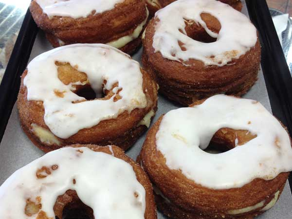 Cronuts, that cross between a croissant and a doughnut, at Swiss Haus Bakery.