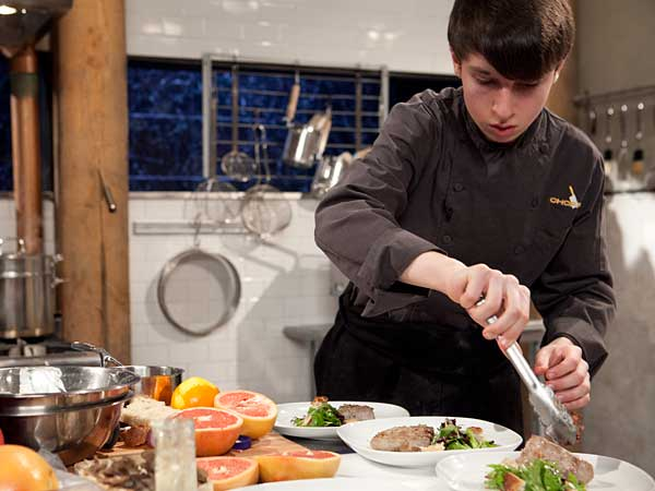 "Mikey Robins of Lower Gwynedd, from his appearance on Food Network´s ""Chopped."""