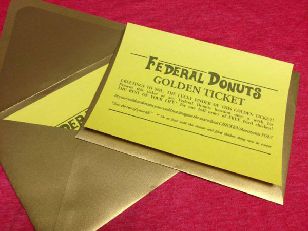 Federal Donuts´ golden ticket.