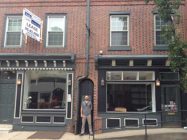 Jeb Woody outside 228 Vine St., the future Honey´s Sit N Eat.