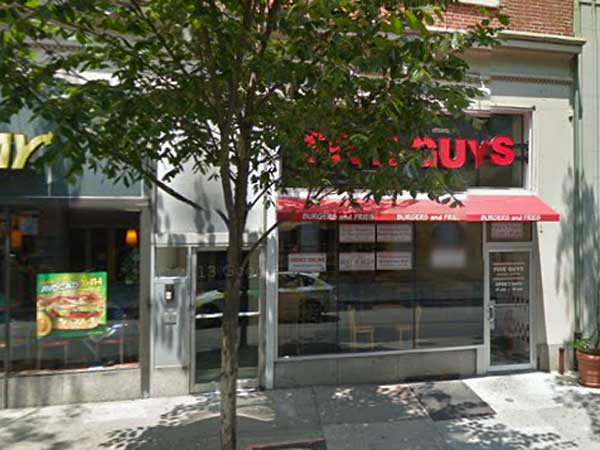 The Five Guys shop at 1109 Walnut St.