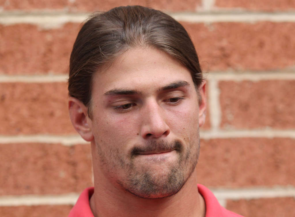 Riley Cooper apologizes for using a racial slur. A video showing the Eagles wide receiver uttering the slur surfaced Wednesday. YONG KIM / Staff Photographer