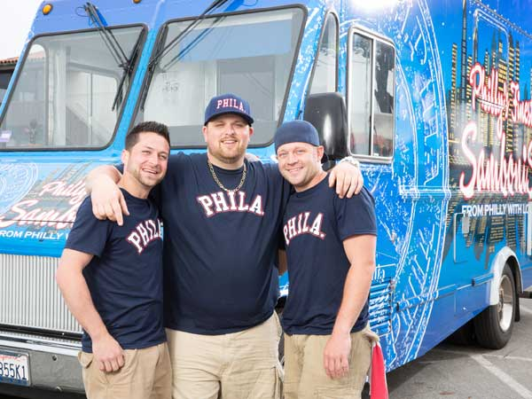 """The Great Food Truck Race"" features Erik Thompson, Joe Toner and Chris Turchi."