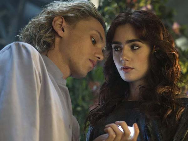 "Jamie Campbell Bower and Lily Collins star in ""The Mortal Instruments: City of Bones."" (Rafy/Screen Gems/MCT)"