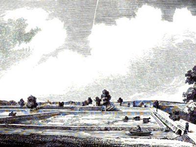 Pegg´s Run in Northern Liberties. (Source: Annals of Philadelphia, and Pennsylvania, in the ... v.1. Watson, John F. (John Fanning), 1779-1860)