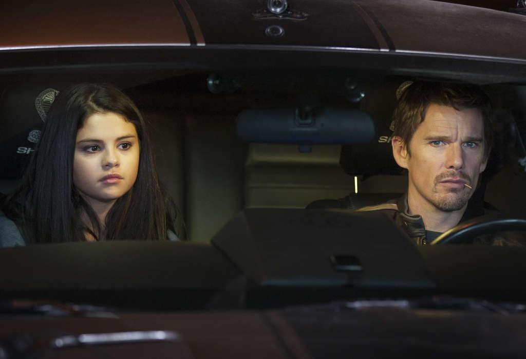 "Ethan Hawke and Selena Gomez star in ""Getaway."""