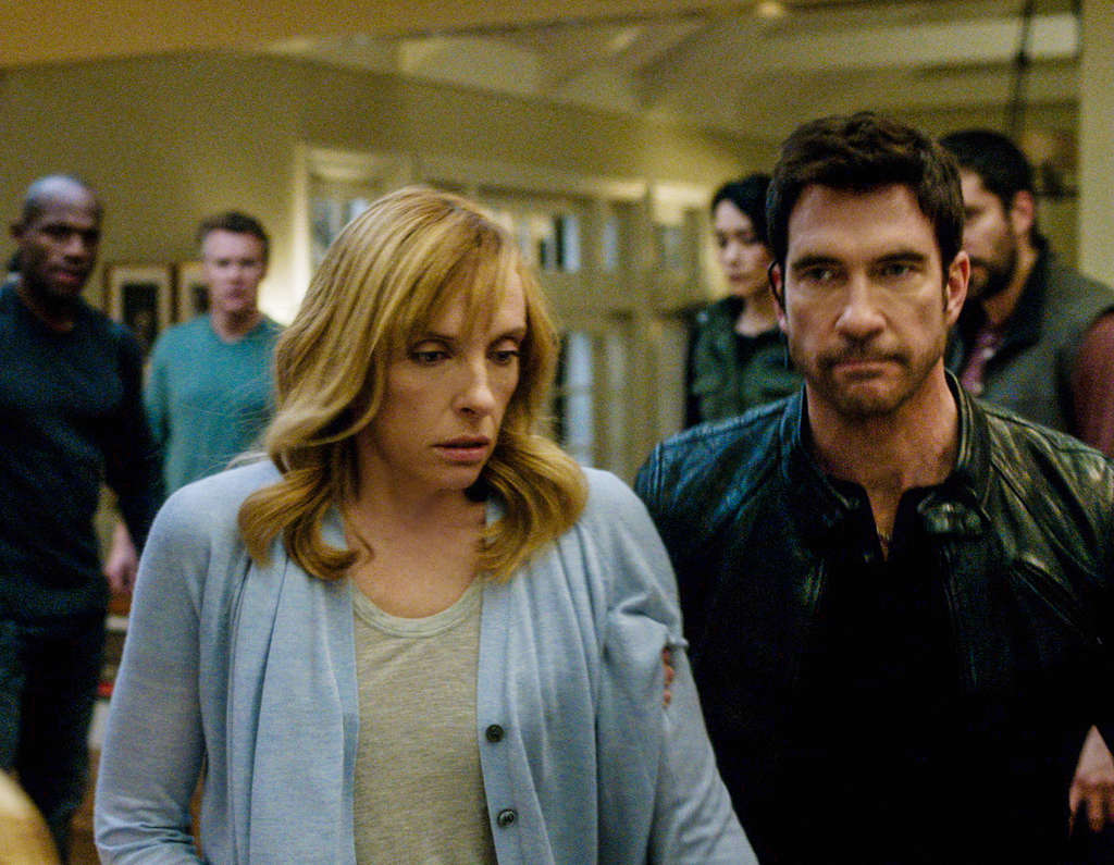 "On ""Hostages,"" Toni Collette is a surgeon whose family is taken hostage by a rogue FBI agent (Dylan McDermott) to coerce her into dastardly doings on the president in the OR."