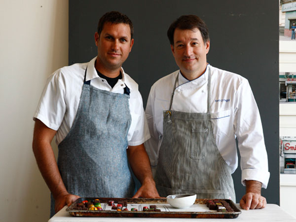 Tradestone Confections founders Chip Roman (left) and Fred Ortega.