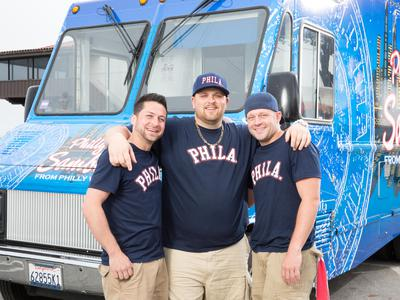 "The Great Food Truck Race"" features Erik Thompson, Joe Toner and Chris Turchi."