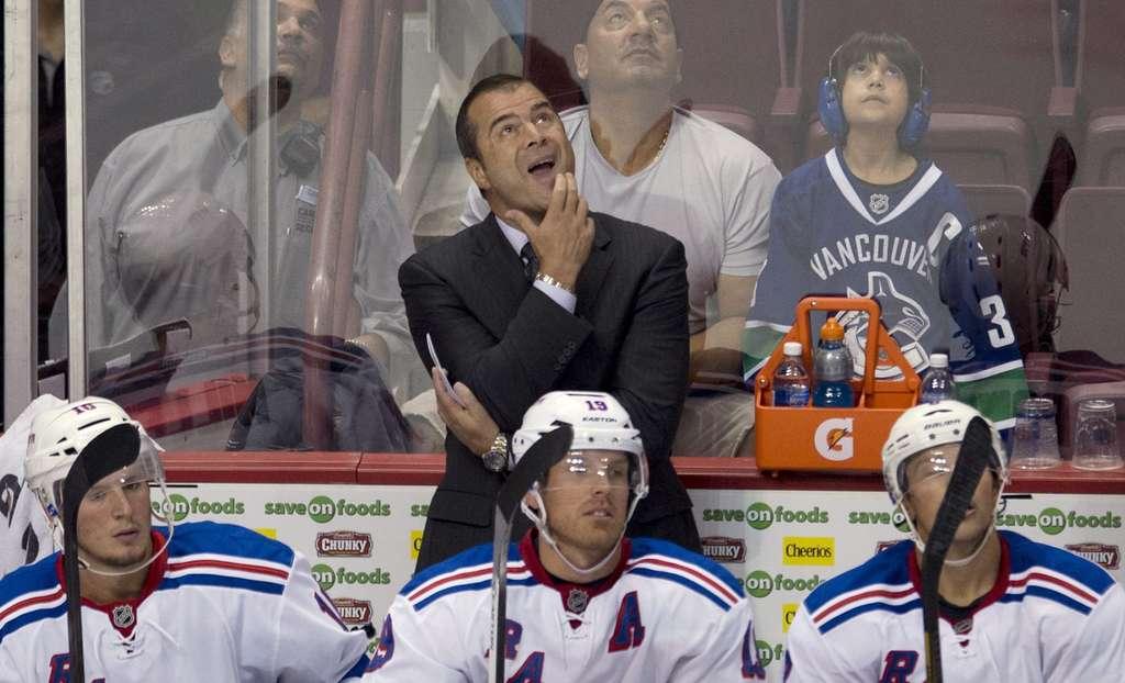 ASSOCIATED PRESS Alain Vigneault, new Rangers head coach.