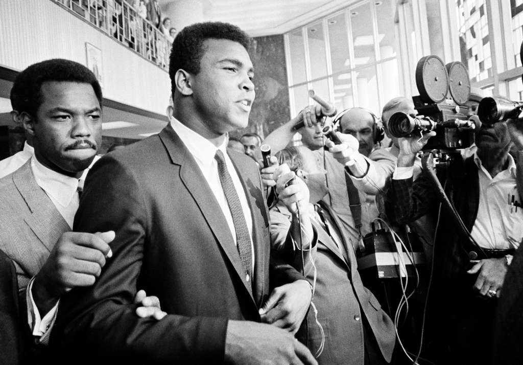 ASSOCIATED PRESS Muhammad Ali during his 1967 trial in Houston for refusing induction into the Army.