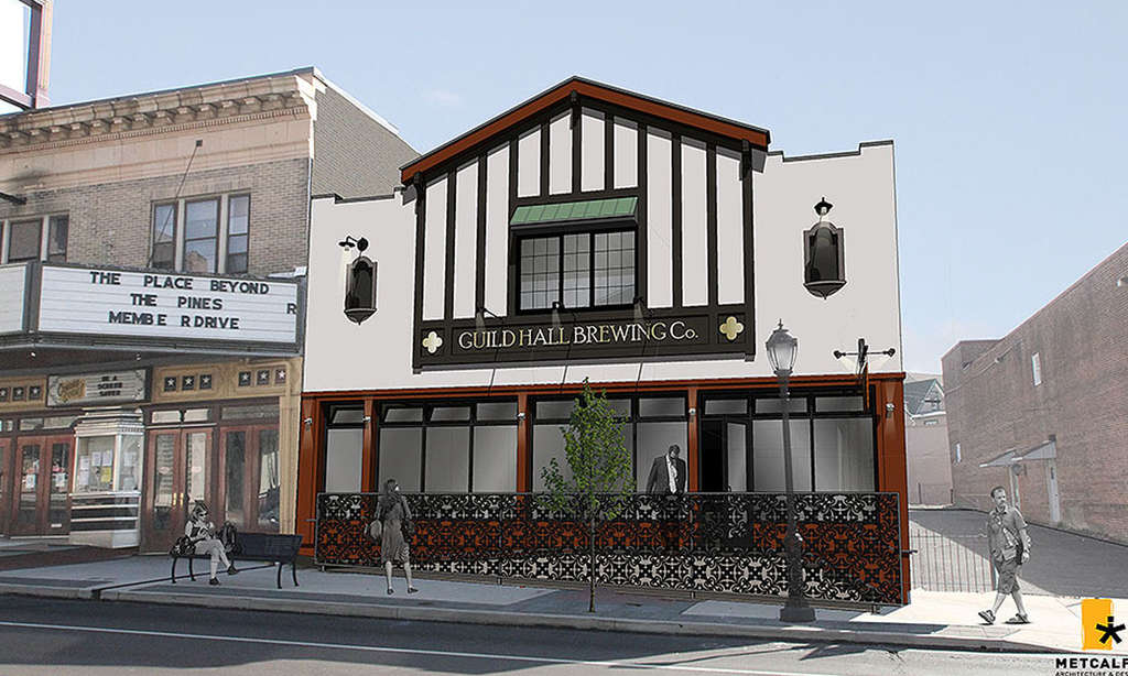 In place of a former antique store in downtown Jenkintown will be the Guild Hall Brewing Co., set to open in February.