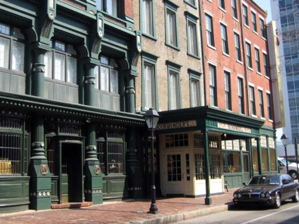 The former Old Original Bookbinder´s at Second and Walnut Streets.