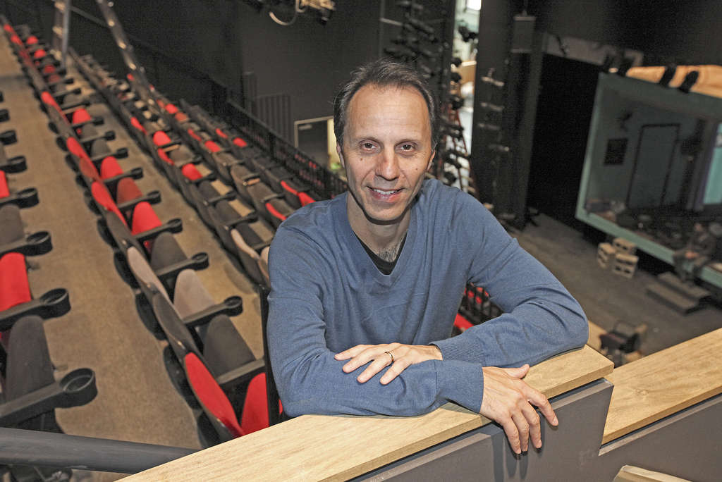STEVEN M. FALK / STAFF PHOTOGRAPHER FringeArts chief Nick Stuccio in the new performance space.