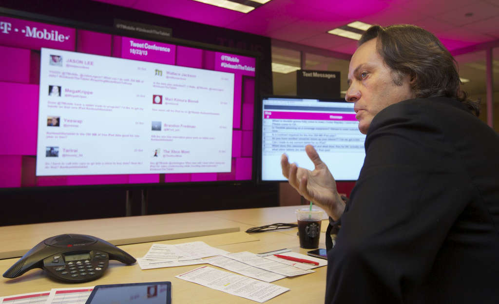 """T-Mobile CEO John Legere says of the high roaming charges: """"You can´t leave the country without coming home to bill shock."""""""