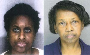 Tiffanie Hardy, left, and her mother, Cosette Carter-Hardy, right.