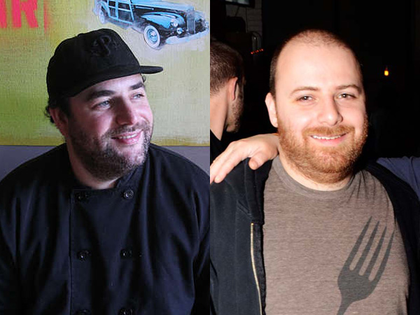 Chef Sam Jacobson (left) heads to Southwark. Chef Nick Macri goes to Border Springs Farm.
