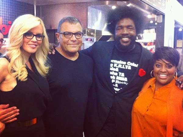 "Stephen Starr and Ahmir ""Questlove"" Thompson at Hybird with ""The View´s"" Jenny McCarthy and Sherri Shepherd."