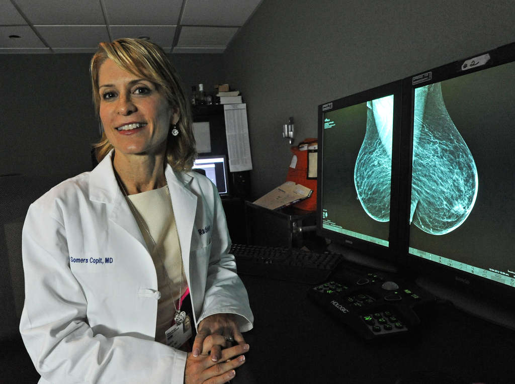 Radiologist Debra Copit disagrees with a law requiring mammography centers to notify women about breast density.