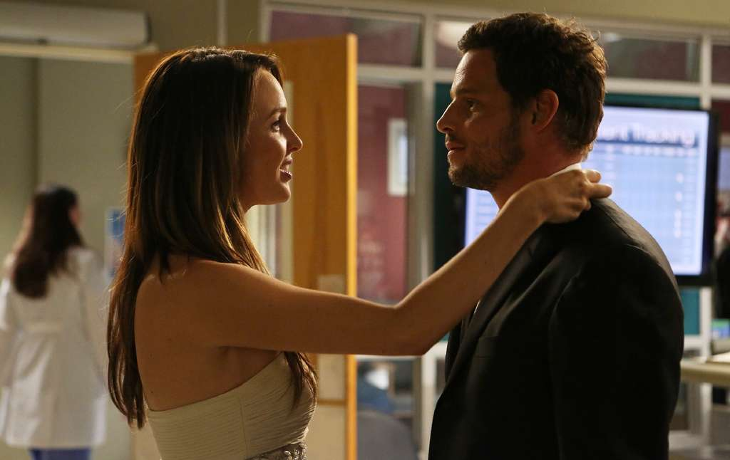 "In ""Puttin´ on the Ritz"" episode of ""Grey´s Anatomy,"" Justin Chambers´ character Alex reveals an emotional secret to Jo Wilson, played by Camilla Luddington. The show airs Thursday at 9 p.m. on ABC."