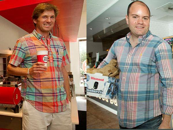 Drew Crockett of HubBub Coffee, left, and Justin Rosenberg of Honeygrow.