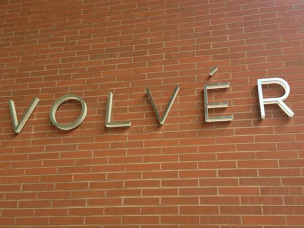 Volver´s sign on the Kimmel Center.