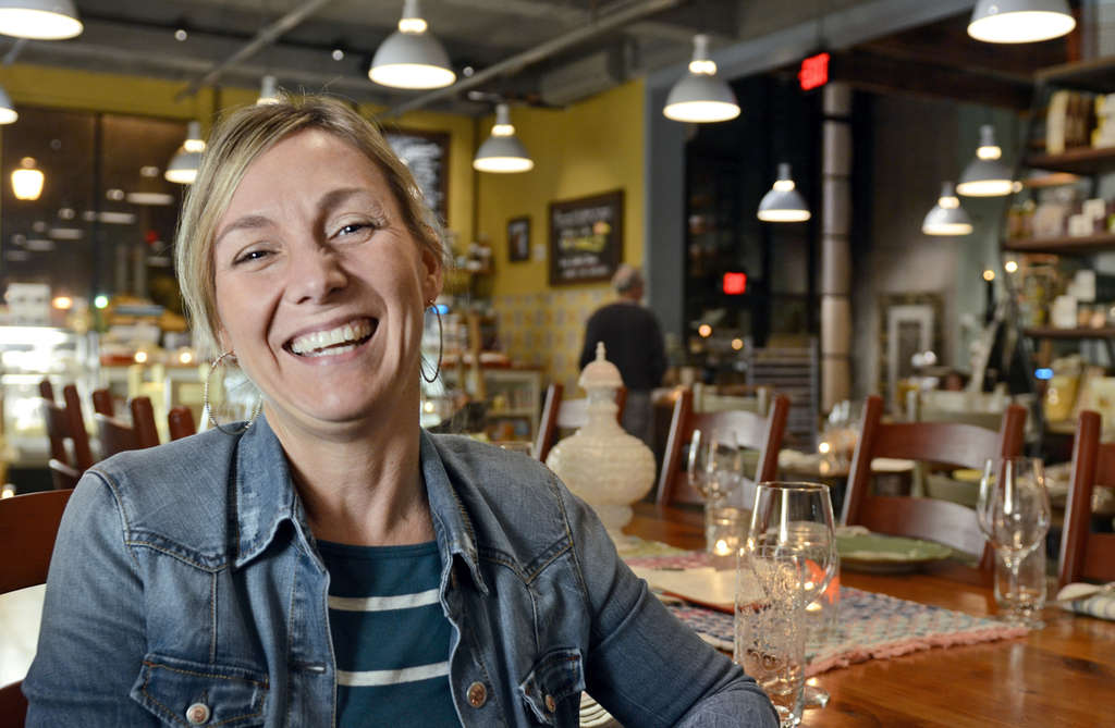 Aimee Olexy at Talula´s Daily, the new market-cafe on the opposite side of the Washington Square building where she also runs the restaurant Talula´s Garden.  She discusses Talula´s Daily at www.inquirer.com/labanreviews.