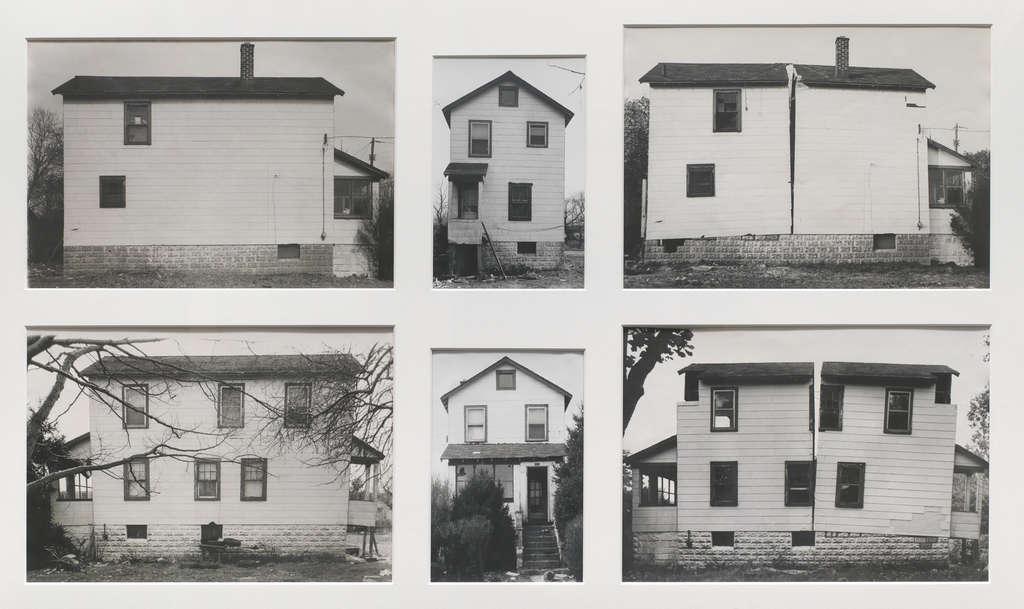 "Gordon Matta-Clark´s ""Splitting,"" 1974, six gelatin silver prints, in ""New Jersey as Non-Site"" at Princeton University Art Museum."