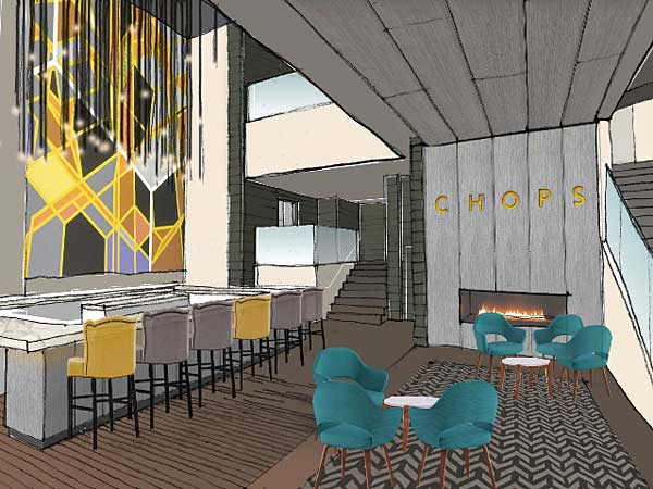 Rendering of new Chops at the Comcast Center.