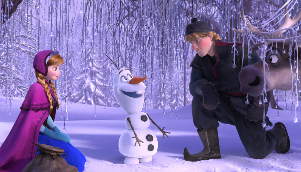 Anna´s the curse-battling princess, Olaf the silly snowguy, Kristoff the noble commoner, and Sven his loyal reindeer friend.