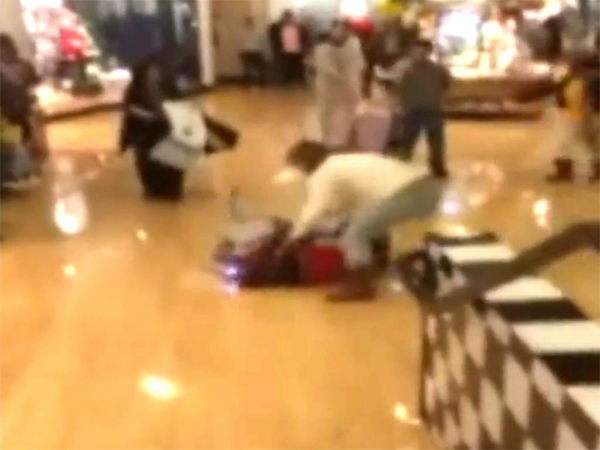 Black Friday shoppers start a melee at Franklin Mills mall, and it was all caught on video.
