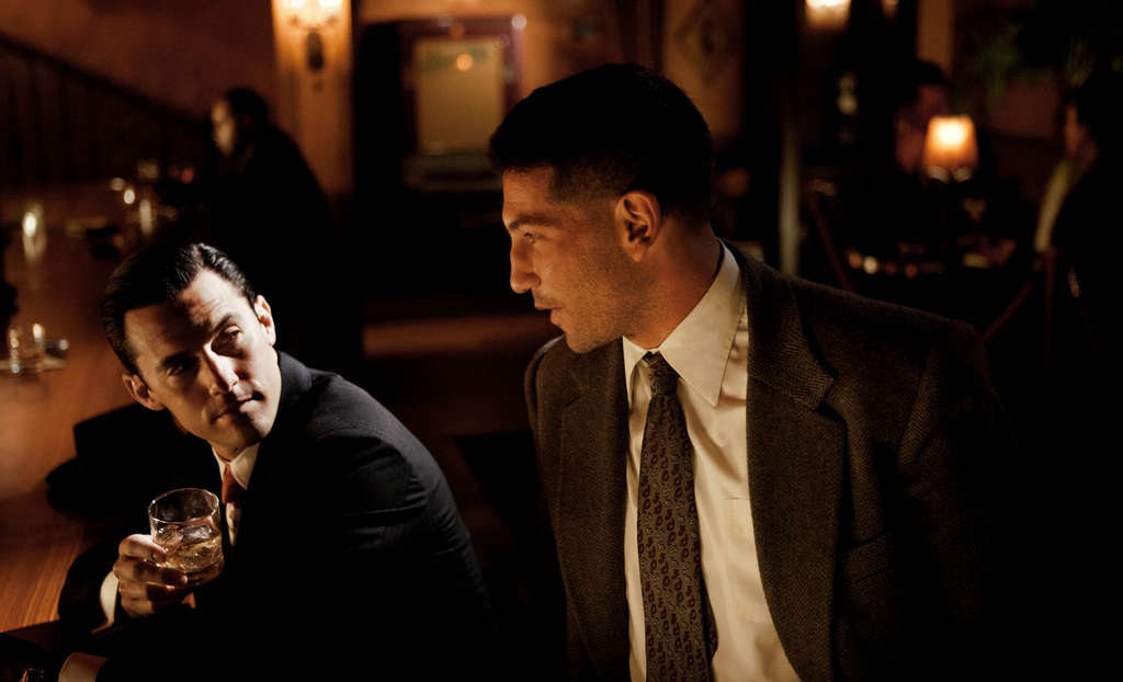 """Mob City"" features Milo Ventimiglia (left) as the fixer, Jon Bernthal as a gangbusting LAPD detective."