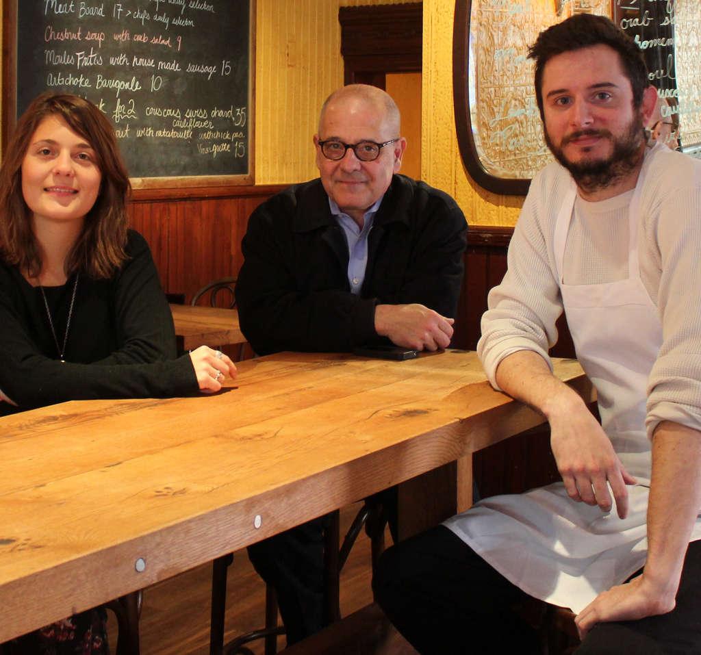 The Good King Tavern owners Chloe and Bernard Grigri, chef Paul Lyons.