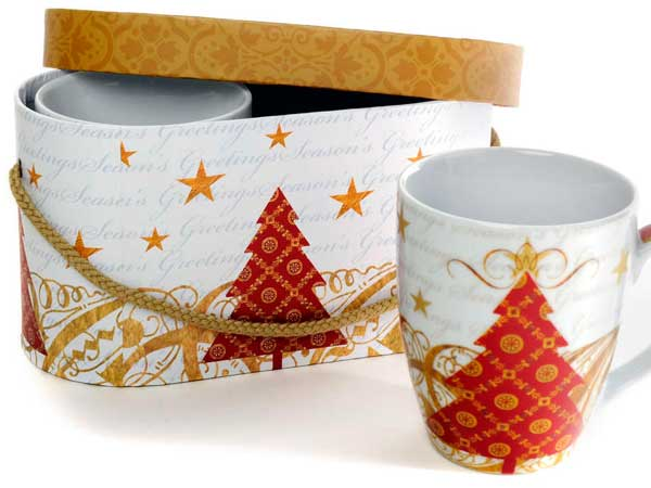 Holiday-cheery mugs from Kitchenette on South Street.