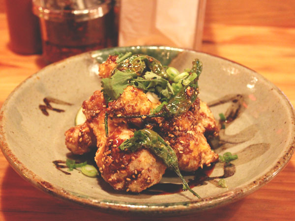 Black garlic wings from Cheu Noodle Bar.