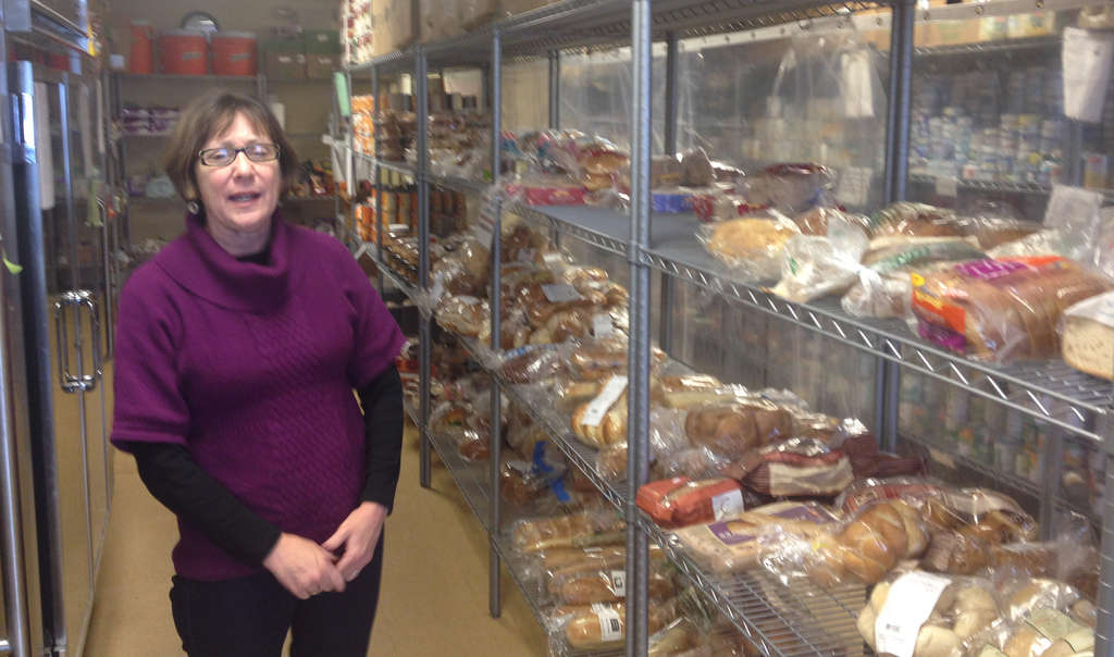Suzan Neiger Gould, executive director of Manna on Main Street, in the Lansdale charity´s food pantry.