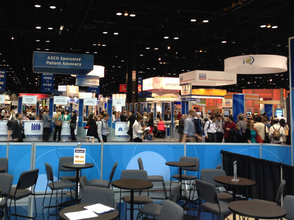 A scene from the 2014 ASCO annual meeting held at McCormick Convention Center in Chicago.