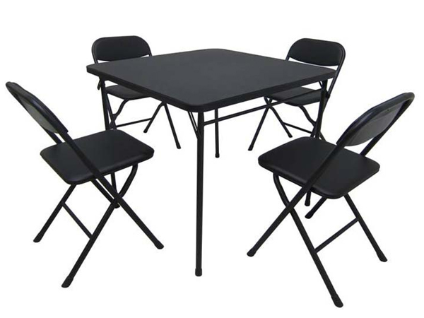Wal-Mart Stores Inc. is recalling about 73,400 Mainstays five-piece card table and chair sets because the chairs can unexpectedly collapse, posing a fall hazard or potential finger injury.
