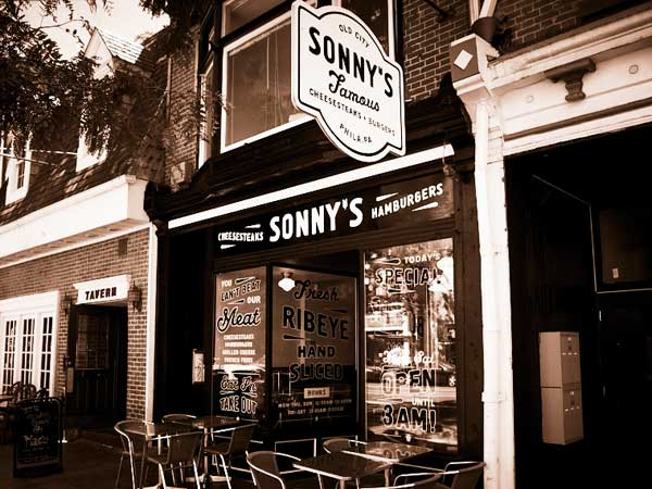 Sonny´s, ranked No. 1 by GQ´s Alan Richman and his panel for cheesesteaks.