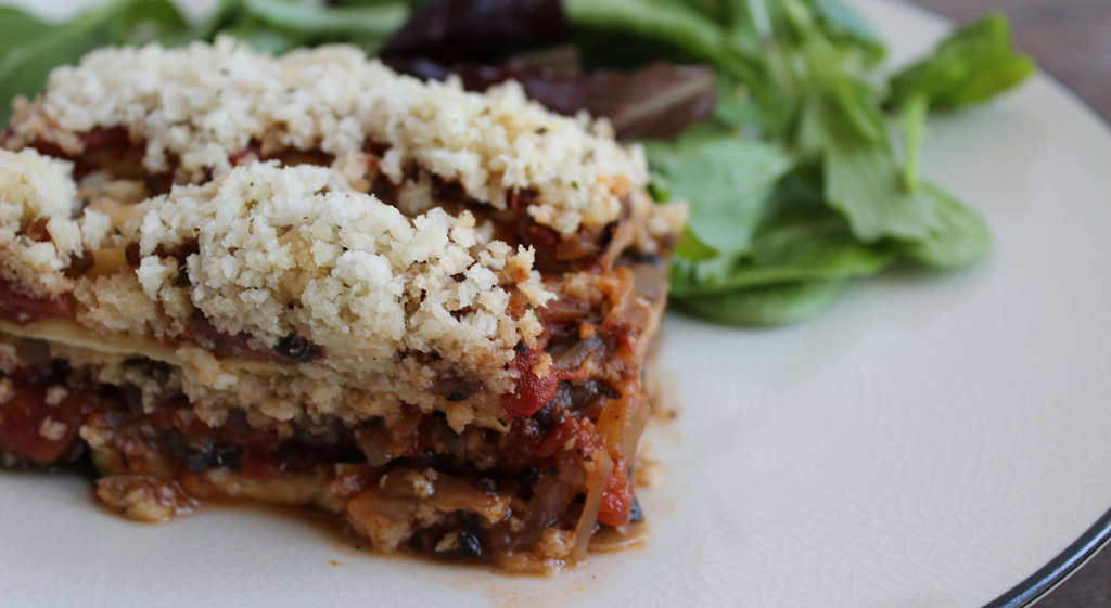 Vegan Lasagna will be on the RFW weight-loss seminar menu.