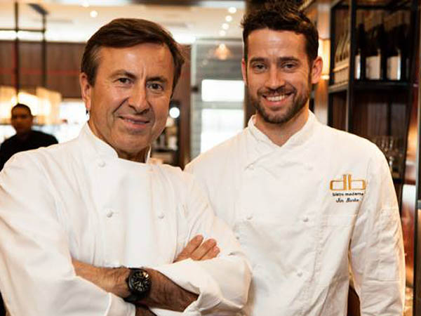 Jim Burke (right) with Daniel Boulud.
