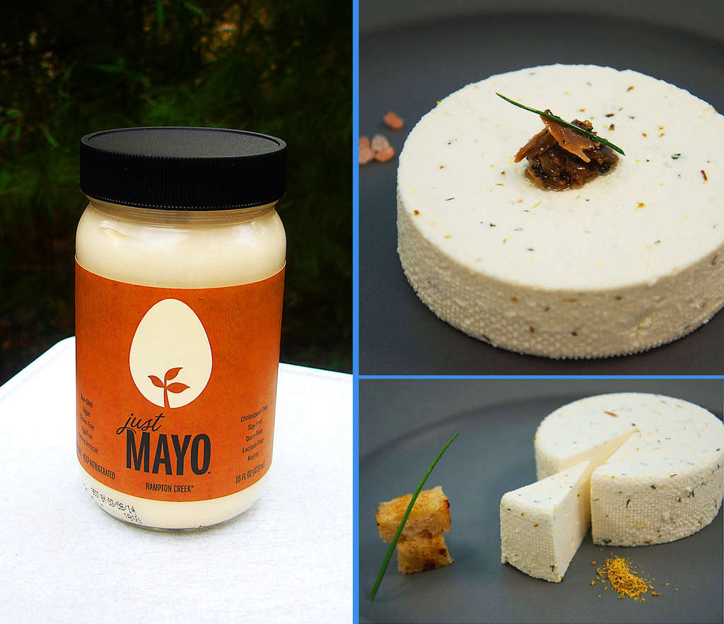 Vegan products making their bow in Philadelphia stores soon are Hampton Creek´s Just Mayo and Kite Hill gourmet cheeses.