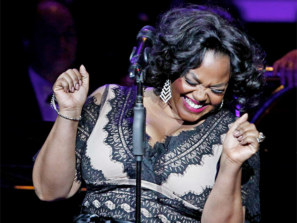 Philadelphia´s own Jill Scott told the Academy of Music audience it was a privilege to sing with the Philadelphia Orchestra. (Michael Bryant/Staff Photographer)