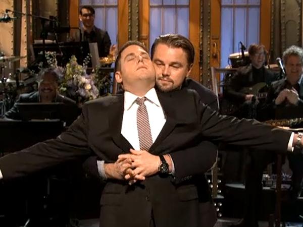 Leonardo Dicaprio Jonah Hill Leonardo DiCaprio crashes