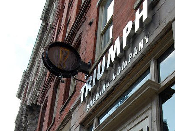 Triumph Brewing Co. at 117 Chestnut St.