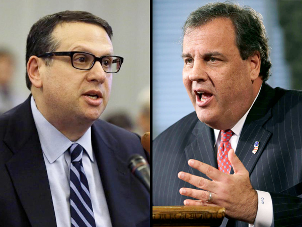 David Wildstein (left), a former Port Authority official at the center of the growing George Washington Bridge scandal, confirmed Gov. Chris Christie was in the loop about the lane closures as they occurred, according to a letter obtained Friday by The New York Times.