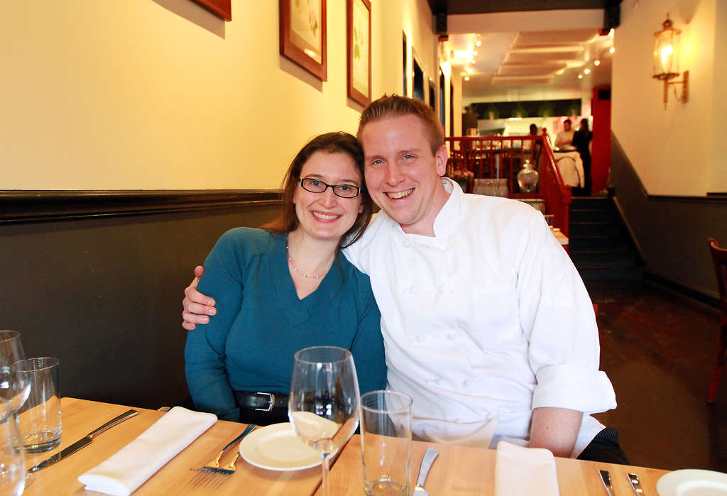 Co-owners Elena and Ben Thomas (he´s also the chef) at Restaurant Cerise. They discuss Restaurant Cerise at www.inquirer.com/labanreviews.