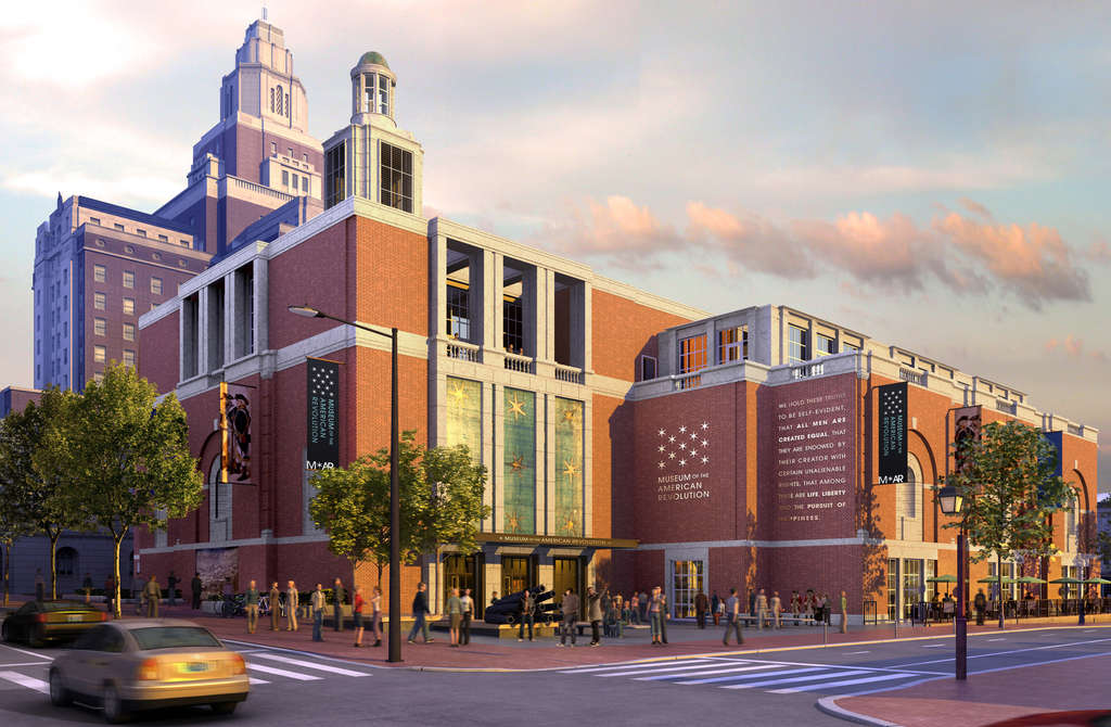 The Museum of the American Revolution, as envisioned by Robert A.M. Stern. The Art Commission asked the architects to remove a cupola, add eye-level windows, and reconsider the building´s composition.