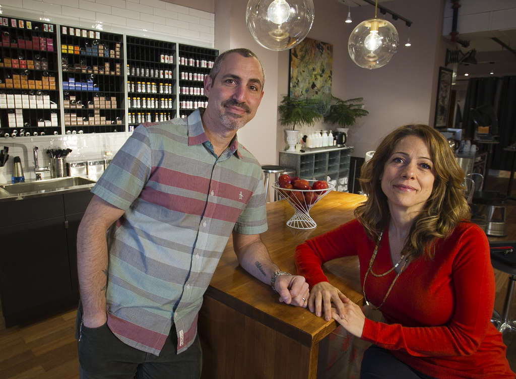 Carlos and Adrienne Rogers recently moved Hush Salon Philadelphia to a new location in Old City. (Alejandro A. Alvarez / Staff Photographer)