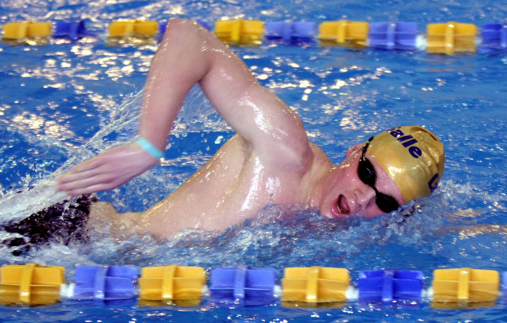 Kyle Shurmur will compete in up to four events at the state swim meet. He´s the Catholic League champ in the 100 backstroke.